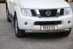 Nissan Pathfinder 2010 Защита переднего бампера d76/42 (дуга) NNZ-000353
